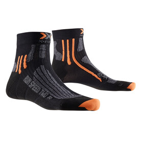 X-Socks M's Run Speed Two Socks Black/Grey Mouline